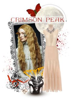 """Indulge Your Dark Side with Crimson Peak : Contest Entry"" by aly2628 ❤ liked on Polyvore featuring Liljebergs, Alexander McQueen, Giuseppe Zanotti, BEA and vintage"