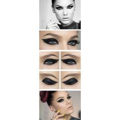 How To Step By Step Eye Makeup Tutorials And Guides For Beginners ❤ liked on Polyvore featuring beauty products, makeup and eye makeup