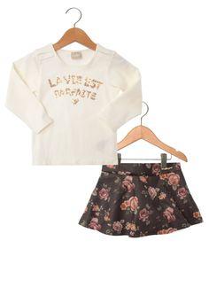 Conjunto Milon Parfaite Infantil Off-white/ Preto