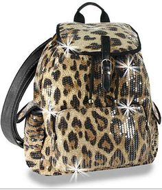 Leopard Print Backpack - Multi Pieces nm2yqg5