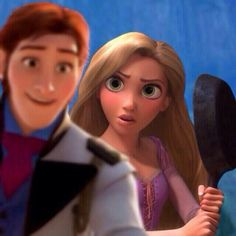 Rapunzel knows how to handle Hans <--OH MY GOSH I NEED TO SEE THIS HAPPEN...LIKE THIS IS AN ACTUAL NEED.