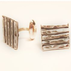 These are sterling silver cufflinks from our bamboo collection. Sterling Silver Cufflinks, Sterling Silver Jewelry, Auburn, Bamboo, Accessories, Collection, Auburn Brown, Jewelry Accessories