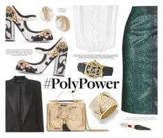 """""""What's Your Power Outfit?"""" by katarina-blagojevic ❤ liked on Polyvore featuring Topshop, Dolce&Gabbana, Alexandre Vauthier, Okhtein, H&M, Kate Spade, Marina B, JBW, Christian Louboutin and PolyPower"""