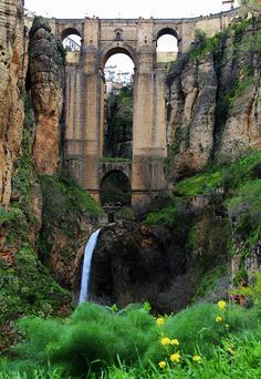 One of the most beautiful places on earth - Ronda, Malaga, Spain Places Around The World, Travel Around The World, Around The Worlds, Places To Travel, Places To See, Travel Destinations, Wonderful Places, Beautiful Places, Beaux Villages