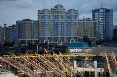 SARANSK, RUSSIA - JULY 17: A general view of the construction... #saransk: SARANSK, RUSSIA - JULY 17: A general view of the… #saransk