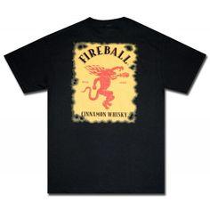 Fireball Whisky Classic Logo T Shirt. Official from Fireball Whisky!