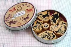 Cat Rubber Stamps Japanese Animal Stamp Sets