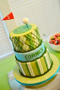 Golf party: Cormick is 2 Golf Cakes ideas (This is an affiliate link) Look into the image by visiting the web link. Beautiful Cakes, Amazing Cakes, Golf Birthday Cakes, Golf Cakes, Golf Party, Sports Party, Little Cakes, Fancy Cakes, Pink Cakes