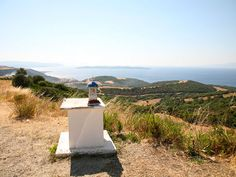 View from the mountain at Ouranoupoli Halkidiki Greece, The Holy Mountain, Winding Road, Thessaloniki, Greece Travel, Tower, Landscape, Lathe, Landscape Paintings