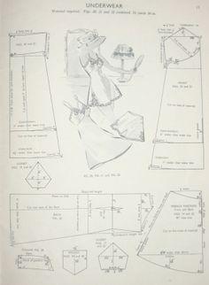 vintage slip pattern