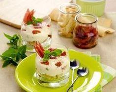 Tiramisu aux tomates séchées et au jambon de parme en verrines