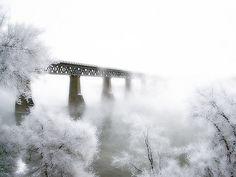 Train bridge right here in Saskatoon, Saskatchewan.