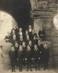 Photograph, group of boys in uniforms- 1893