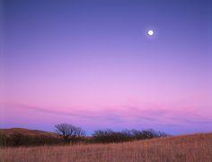 Moon over Konza Prairie, Kansas by James Nedresky photographer, via Flickr