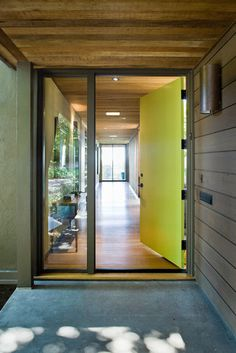 Front Door - modern - entry - san francisco - Koch Architects, Inc. Joanne Koch: color, side light