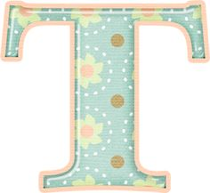 Flower Alphabet, Letter T, Home Learning, Alphabet And Numbers, May Flowers, Digital Image, Initials, Symbols, Aqua