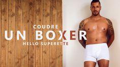 COUDRE UN BOXER POUR HOMME - TUTO COUTURE FACILE et SANS PATRON - YouTube