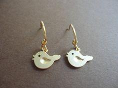 Tiny Gold Baby Bird Dangle Earrings  Baby by ClassyJewelryByAlena, $12.00