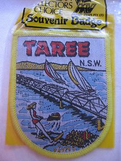 Patch of Taree, NSW, Australia - shows the river, bridge and boats. Classic - sold for $22.50.