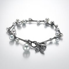 Oxidized Willow Bracelet by John Iversen available @QUADRUM