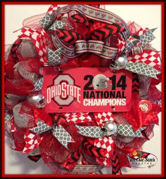 The Ohio State University National Champions Buckeyes Wreath
