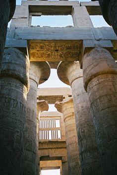 Column capitals, Hypostyle Hall, Temple of Amun-Re, Karnak, Egypt.