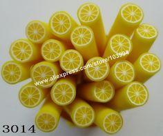 Lemon Design Fimo Fruit Polymer Clay Canes
