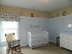 Instead of a stripe in the middle of the room... and I love the ledge (Jacksons room?)
