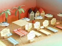 """3d table plan, modelo """"Playas del mundo"""", escena"""