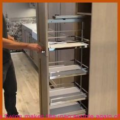 Credit history : Their Dispensa Swing makes the inaccessible again of your pantry a point of the earlier  – current  #kitchen pantry ideas organizing, #organizing the pantry, #pantry makeover small, #small pantry ideas organizing   #KitchensWithPantry, #OrganizingYourPantry, #PantrySmall, #PantryStorage, #SmallPantryOrganizationIdeas