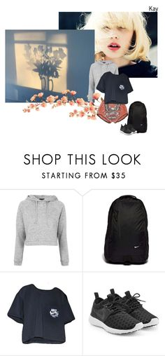 """""""Be Positive"""" by nascondigli ❤ liked on Polyvore featuring Topshop and NIKE"""