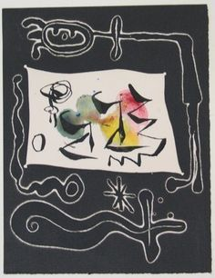 Joan Miró. Variant of plate from Le Désespéranto, Volume III from LAntitête. 1947-1949