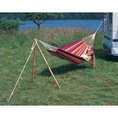 Kayak Storage Fence The Holiday Aisle Michaud Madera Wood Standard Hammock Stand - Go Camping, Outdoor Camping, Outdoor Gear, Camping Hammock, Camping Chair, Camping Ideas, Outdoor Fun, Hammock Chair, Hammocks