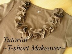 I'm always looking for good t-shirt tutorials.