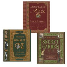 The Met Store - Annotated Children's Classics Set: Wizard of Oz, Secret Garden, and Alice