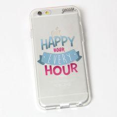 Custom Phone Case Happy Hour Cellphone Case, Smartphone, Happy Hour, Cute Phone Cases, Iphone Cases, Tech Deck, Wake Up Call, Best Cell Phone, Utensils