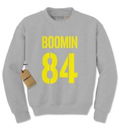 Boomin #84 - How's Business? Football Adult Crewneck Sweatshirt