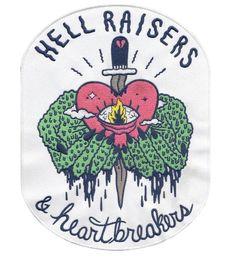 "Sick Girls Official ""Hell Raisers & Heartbreakers"" Back Patch #SickGirlsOfficial #Patch #BackPatch:"