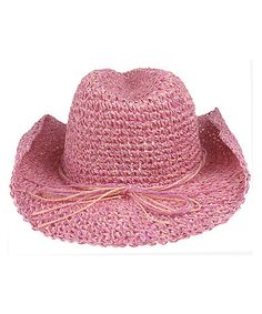 Another great find on #zulily! Pink Woven Cowgirl Hat by Capelli New York #zulilyfinds
