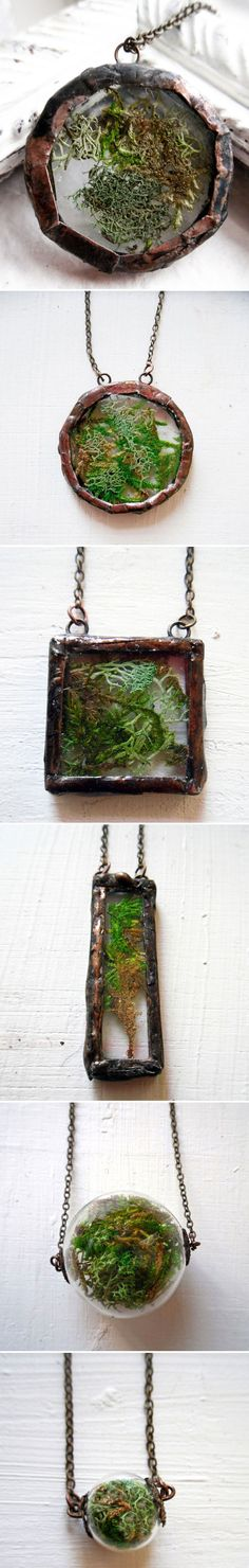 """HACKABLE :: Moss Circle Necklace by Raven Locadia for Heron and Lamb :: $45 