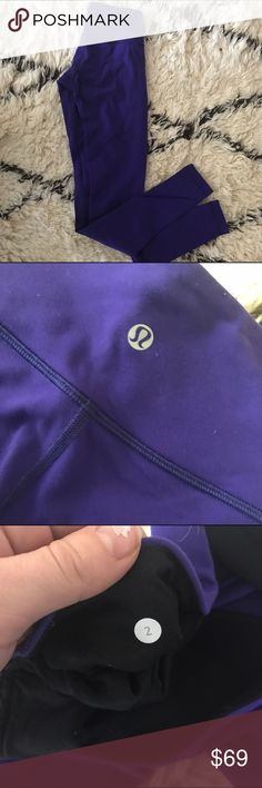 Lululemon Wunder Under Pant Lululemon Wunder Under size 2 purple tight/pants. Super flattering fit and color. Worn only a few times. Perfect for the gym, yoga, or athleisure. From a smoke-free home 😊 lululemon athletica Pants