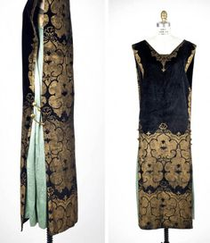 Dress, Maria Monaci Gallenga, ca. 1920. Silk, metallic pigment, metallic yarn. Rhode Island School of Design