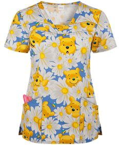 Visit Uniform Advantage for cartoon scrubs and many more! Shop here for the Cherokee Tooniforms Disney Peek a Pooh Print Scrub Top today. Disney Scrub Tops, Disney Scrubs, Vet Scrubs, Medical Scrubs, Veterinary Scrubs, Black Scrubs, Scrubs Uniform, Uniform Advantage, Scrub Jackets