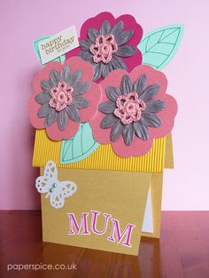 Flower Pot Birthday Card | Paperspice