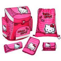 SCOOLI Campus Plus Schulranzen-Set, 5-teilig - Hello Kitty #scooli #campus #schulranzen #hellokitty #campusplus #pink #kitty #tornister #etui #turnbeutel #schule #einschulung