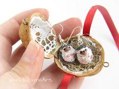 Miniature Hedgehogs in a nut shell  from VaniLlamaArt by DaWanda.com