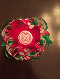Christmas hairbow 🎀 🍭 🎄