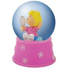 WL SS-WL-20755 Peanuts Comic Strip Theme Water Globe with Sally Holding Mirror, 45mm -- Special offer just for you. : Snow Globes