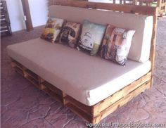 Pallet Couch with Wheels