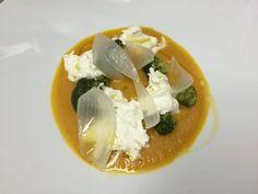 Burrata, peperoni, broccoli Della Villa Restaurant